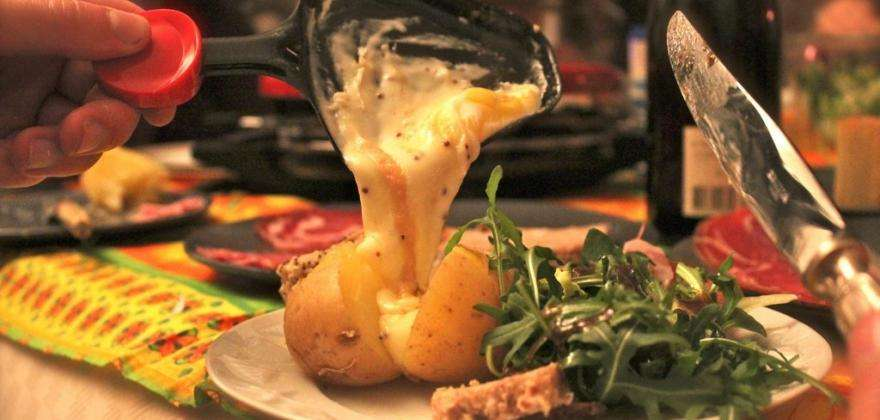 In winter, go for the raclette!